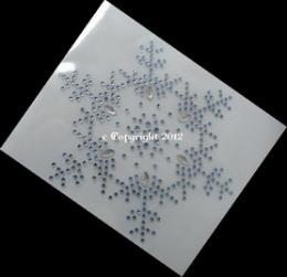 Hotfix Bügelbild wundersch. Eiskristall Schneeflocke Farbwahl 120824