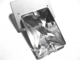 Aufnähsteine aus Glas Rechteck 25 x 18 mm Crystal