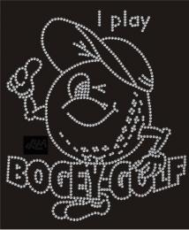 Strass Bügelbild Golf spielenI play Bogey-Golf Clea 101214