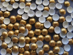 720   Halbperlen Glitter GOLD 2 mm