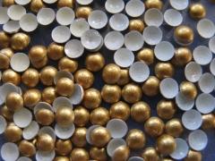 720   Halbperlen Glitter GOLD 4 mm