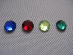 50 Acryl Strasssteine rund 6 mm Cobaltblau