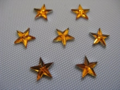 50 Acryl Sterne Gold 6mm