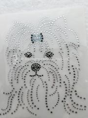 Strass Bügelbild Hund Yorki entzückender Yorkshire 100326-03dc