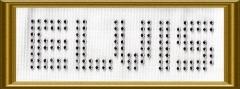 Strass ELVIS Schriftzug 100622-11dc