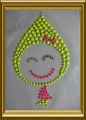 Bügelbild reflektierendes Mädchen lächelnd Kindermotiv 20102631