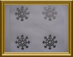 Strass Bügelbild 2 Mini Eiskristalle Crystal 101031
