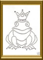 Bügelbild Froschkönig Silber 130115