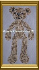 Hotfix Bügelbild süßer Teddybär Metall Farbwahl 110211