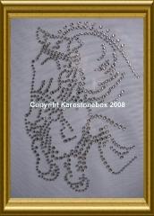 Hotfix Pferd Springpferd Satteldecke mit Halfter Farbwahl 120803