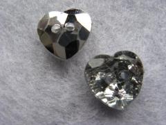 1 Schmuck Strass Knopf Herz 12mm Crystal