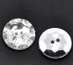 2 Schmuck Strass Knopf rund  ca.16mm Crystal
