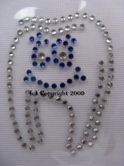 Hotfix Strassbild Zahn m. Gesicht Zweifarbig 110615