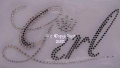 Strass Schriftzug Namen Girl mit Krönchen 110826