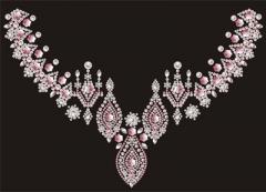 wunderschönes großes Ornament Pink und Pearl Domestuds AB