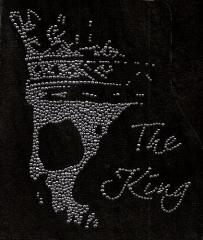 Bügelbild Strass Skull Totenkopf  The King   110515 Farbwahl