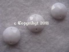 15 Strass Aufnähsteine Rund ca. 12mm Weiss