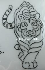 Bügelbild Aufbügler Tiger Raubkatze Katze schwarz  080417