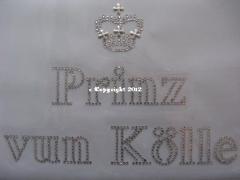 Hotfix Bügelbild Bügelmotiv Prinz vun Kölle 120112