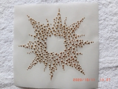Hotfix Bügelbild Sonne Ornament in Gold 120319