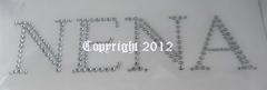 Hotfix Strass Bügelbild Motiv Schriftzug Name Nena 110228