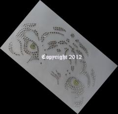 Hotfix Strass Bügelbild Tolle Tiger Augen 120704 Crystal