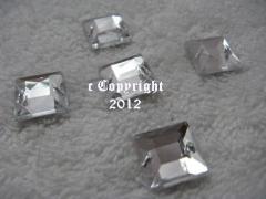 15 Strasssteine aufnähen Quadrat Nr.2 ca. 12mm Crystal AAA Quali