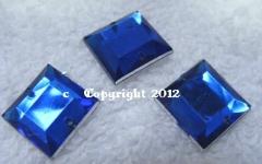 15 Aufnähsteine Quadrat ca. 12mm Cobalt Roayal AAA Qualität