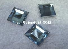 15 Aufnähsteine Quadrat ca. 12mm Hellblau AAA Qualität