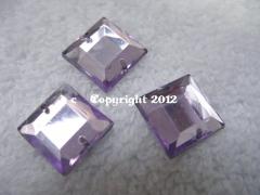Aufnähsteine Quadrat ca. 12mm Flieder AAA Qualität