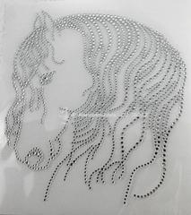 Bügelbild Strass Pferd Pferde Friese  Crystal  140218