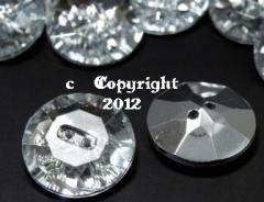 1 Schmuck Strass Knopf Knöpfe 20mm Crystal