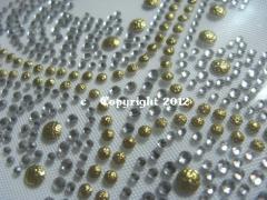 Hotfix Bügelbild Strass edles Kreuz Crystal-Gold 121013