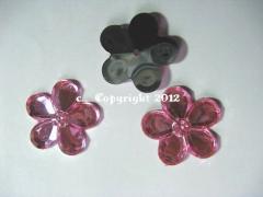 Aufnähsteine Blüte Blume ca. 30mm Rosa AAA Qualität