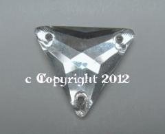 Aufnähsteine aus Glas Dreieck Triangle 16 x 16 mm Crystal