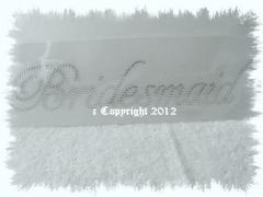 Hotfix Strass Schriftzug Bridesmaid 120814