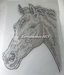 Hotfix Strass Bügelmotiv Pferd traumhafter Pferdekopf 130814