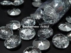 1 Schmuck Strass Knopf Knöpfe 25mm Crystal