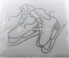 Hotfix Strass Glas Bügelbild gr. Schlittschuhe Eistanz 141216
