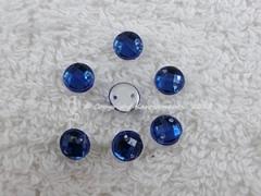 ca. 20 Qualitäts Aufnähsteine in 6 mm rund Farbe Cobaltblau Royalblau