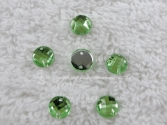 ca. 20 Qualitäts Aufnähsteine in 6 mm rund Farbe Peridot
