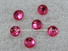 ca. 20 Qualitäts Aufnähsteine in 6 mm rund Farbe Pink Fuchsia