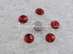 ca. 20 Qualitäts Aufnähsteine in 6 mm rund Farbe Rot