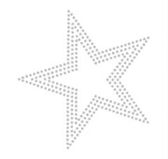 Bügelbild Strass Stern Crystal dreireihig 111115