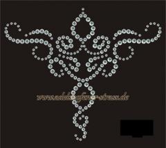 Strass Bügelbild Ornament Crystal Kleid Satteldecke Kissen 111016