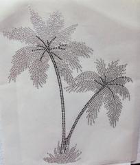 Hotix Strass Bügelbild   schöne große Palme  200319