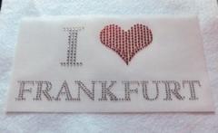 Bügelbild Strass I Love FRANKFURT  110912