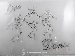 Bügelbild Strass LINE DANCE Western Country Crystal  140322