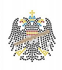 Strass Bügelbild Adler Wappen Köln klein