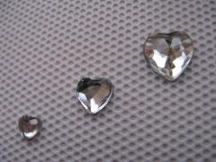 Acryl Strasssteine Herz Kristall 6x6 mm